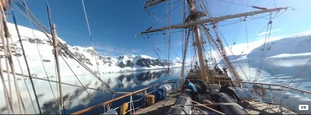 Sailing the Southern Ocean.