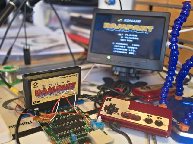 Famicom composite mod schematic.